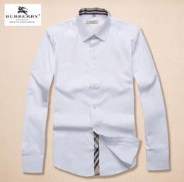 2019 американский деловой бренд рубашка в клетку самосовершенствования, дизайнер одежды бренда с длинными рукавами хлопка повседневная рубашка в полоску рубашка 20 на Распродаже