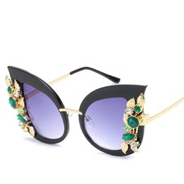 female diamond eyeglasses UK - Oversized Square Diamond Sunglasses Women Yellow Big Frames Glasses Crystal One-Piece Female Sun Glasses Rhinestone Eyeglasses #168611