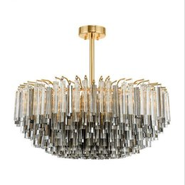luxury kitchens designs UK - New luxury crystal stem postmodern chandelier design personality style Nordic lamp fashion living room exhibition hall