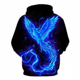 Discount phoenix clothes - 2019 Europe And America-Style Hot Selling Fire Phoenix 3D Digital Printing Couple Clothes Hoodie