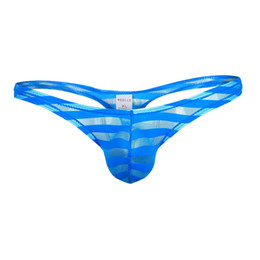 6bb2fb64c5a4 Men Black Nylon Lingerie UK - Mens Underwear man Thong Transparent Mesh  Stripe Sexy Panties tanga