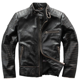 98c05529d41 Avirex Bomber Jackets Australia - 2019 Avirex fly Flight Jacket Genuine  Leather Jacket Men Solid Cowskin