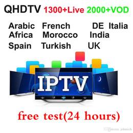 Arabic Tv Boxes Australia - 1 year Arabic Iptv Subscription QHDTV Code 2000+VOD Netherlands France Arabic Iptv Android box M3U for Smart Tv Mag 250