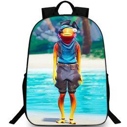 PoPular girl backPack online shopping - Fishstick backpack Fish stick daypack Saltwater Satchel schoolbag Popular game rucksack Sport school bag Outdoor day pack