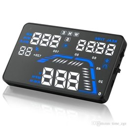 "Car Heads Up Display Australia - car DHL 5PCS Q7 5.5"" Universal GPS HUD Head-Up Display Dashboard Mounted Projector Speed Warning Speedometers"