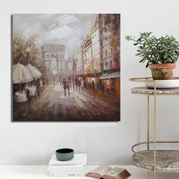 decorative painting frames NZ - 1 Pcs Posters and Print Wall Art Canvas Painting, Modern Abstract Arc de Triomphe Landscape Decorative Paintings No Frame