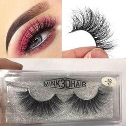 ab2d656d1c8 3D Mink Eyelashes Messy Eye lash Extension Sexy Eyelash Full Strip Eye  Lashes By chemical fiber MMA1235