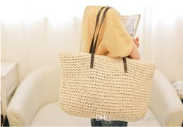 $enCountryForm.capitalKeyWord Australia - Hip-Hop Style Colorful beach bags zipper women straw woven tote bag shoulder bags with document pocket