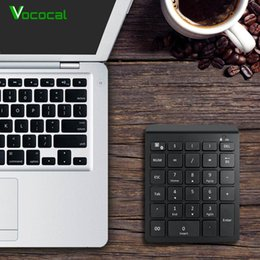 $enCountryForm.capitalKeyWord Australia - Vococal 28 Keys Universal Portable Mini Wireless Bluetooth Numeric Keypad Keyboard for Smart Phone Laptop PC Tablet