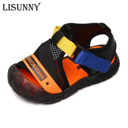 white boys sandals NZ - Summer Kids Sandals for Boys Girls Fashion Sport Shoes Causal Flat Beach Sandals Children Girls Soft Bottom Outddor