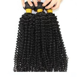 best tangle free human hair 2020 - L Best Quality 1b Kinky Curly Mongolian Hair 3pcs No Tangle Virgin Human Hair Weave For Women Free Shipping cheap best t