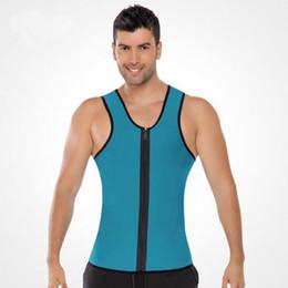 37fd620283 Hot Zipper Waist Trainer Men Ultra Sweat Neoprene Corset Slimming Vest Belt  Waist Cincher Body Shaper Corsets Mens Slimming Shapewear RF0371