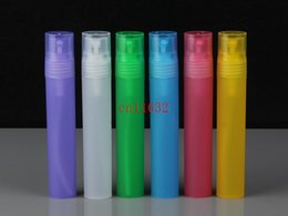 Oz Plastics Australia - 3000pcs lot Free Shipping Colorful 10ML Plastic Perfume Bottle, PP Spray Bottle, 1 3 oz Plastic Atomizer, Scent Container