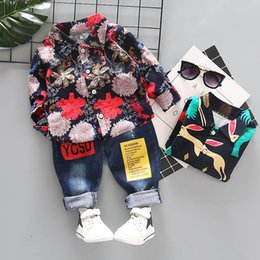 Floral Print Shirts Baby Australia - Printing floral Boys Clothing Sets Baby Boy Clothes Boy Suit long sleeve shirt+trousers Infant Outfits Toddler Clothes boys clothes A3830