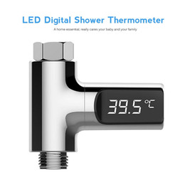 Wholesale Led Display Water Shower Thermometer LED Display Home Water Shower Thermometer Flow Water Temperture Monitor ER753