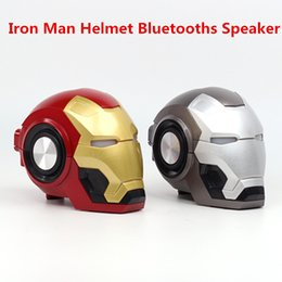 Bluetooth Toys Australia - Iron Man Wireless Bluetooth Speaker bass Cartoon Gift Mini Shape Portable with TF FM for iphone computer xiaomi Toys Loudspeaker 20 PCS DHL
