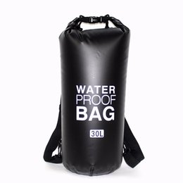 c373e8bfa7e4 20L 30L PVC Outdoor Waterproof Dry Swimming Drifting Bag Backpack  Impermeable Ocean Pack Swim Water Proof Bag Upstream  280631