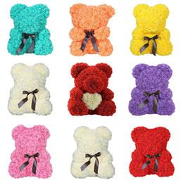 $enCountryForm.capitalKeyWord Australia - 2019 Hot Valentines Gift 23 40cm Soap Foam Bear Of Roses Artificial Rose Bear Flower New Year Gifts For Women Drop Shipping J190710