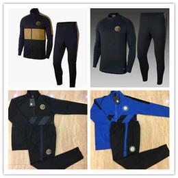 Venta al por mayor de TOP 2018 2019 INTER Soccer Kits de chaqueta Chándal ICARDI nainggolan LAUTARO PERISIC NAINGGOLAN 18/19 inter Juego de entrenamiento de chaqueta con capucha