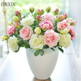 $enCountryForm.capitalKeyWord Australia - 5pcs lot Vivid Real Touch 2 Heads Rose Colourful High Quality Artificial Silk Flower For Wedding Layout Home Party Decoration J190711