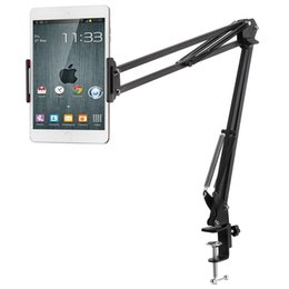 phone holder clip long arm Australia - Gocomma Metal Long Clip Arm Mobile Phone Holder Bracket