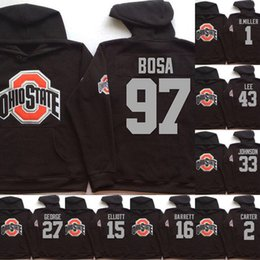 375cb4459 NCAA Ohio State Buckeyes Hoodie Jersey 97 Joey Bosa 1 B.Miller 15 Elliott  16 BARRETT Football Sweatershirt Jerseys