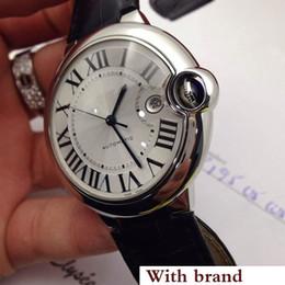 Venta al por mayor de Reloj para hombre de lujo 100 XL Reloj Automático BALLON cara negra de cuero negro 316 Caja de acero delicado Reloj deportivo Reloj de pulsera