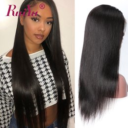 Human Hair for black women online shopping - 360 Lace Frontal Wig Pre Plucked With Baby Hair Remy Human Hair Lace Front Wigs For Black Women Ruiyu Malaysian Straight Lace Wigs