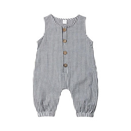 4251336ce 0-18M Casual Newborn Baby Boy Girl Sleeveless Striped Romper Jumpsuit  Playsuit Outfits Summer Clothes