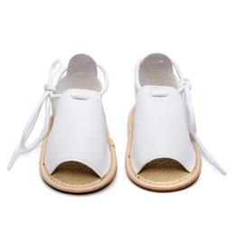 brown sandals for girls NZ - Rome Style PU Leather Baby Sandals Summer Shoes Infant Toddler Sandals For Girls Soft Sole Non-Slip Boy Baby Moccasins