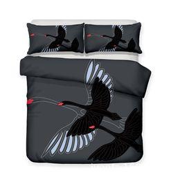 Discount horse bedding sets full size - High Quality 3D Bedding Set lifelike Animal Horse Print Duvet Cover Set Bed Linen Full Queen King Size Swan horse eagle