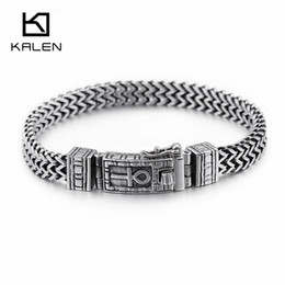 man woman symbol rings Australia - KALEN 8mm Egyptian Ankh Symbol of Life Charm Bracelets For Men Women Stainless Steel Silver Mesh Linking Chain Bracelet Jewelry