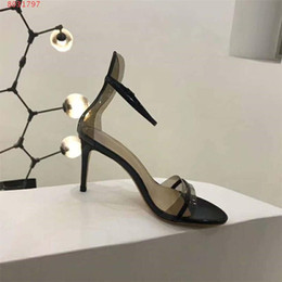 Nude Woman Black Tie NZ - new women high heels sandals black and red Nude color summer sandals classic style Followed by the zipper size 34-40