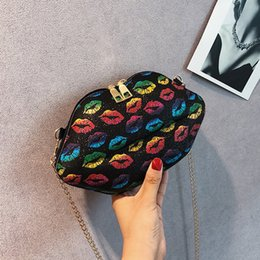 $enCountryForm.capitalKeyWord Australia - Free2019 Small Girl Lips All-match Cable Satchel Tide Single Shoulder Woman Package Paillette The Bright Star Bag
