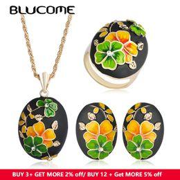 $enCountryForm.capitalKeyWord NZ - lucome Classic Jewelry Set Yellow Flower Enamel Necklace For Women Blucome Classic Jewelry Set Yellow Flower Enamel Necklace For Women's ...
