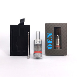 Donut atomizer glass online shopping - Hot selling Portable rig thread OEN wax Atomizer dry herb Vaporizer pen ceramic donut wickless coil Ceramic chamber Glass tank Atomiser