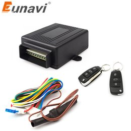 keyless car remotes Canada - Eunavi 402 321 12V New Universal Car Auto Remote Central Kit Door Lock Locking Vehicle Keyless Entry System hot selling