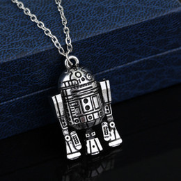 $enCountryForm.capitalKeyWord NZ - Fashion Jewelry Men Necklace Classical Robot pendant Silver Necklace designer necklaces luxury chains necklace