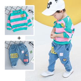Toddler girls TracksuiTs online shopping - Baby gir Clothes Set T shirt Jeans Piece Toddler Suit Autumn Long Sleeve Cotton Kids Baby Tracksuit Casual Newborn Outfit