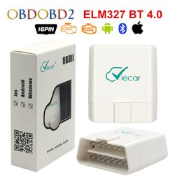 bluetooth v1.5 obd2 Canada - Viecar ELM327 V1.5 Bluetooth 4.0 For Android IOS PC OBD OBD2 Diagnostic Scanner tool elm 327 v1.5 OBDII Code Reader Scanner