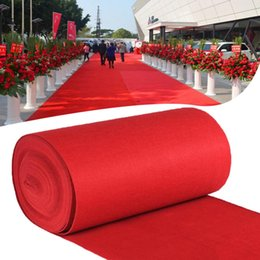 red carpet wedding aisle Australia - 15m 10m Outdoor Red Carpet Aisle Mat For Film Festivals Wedding Banquet Parties Celebrations Awards Events Decoration DIY Carpet