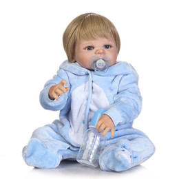 China boys toys online shopping - Bebe Reborn Promotion lifelike reborn baby doll soft real gentle touch baby full vinyl doll for children Birthday Gift