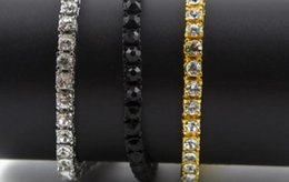 top china wholesale fashion jewelry Australia - Hip Hop Bracelet Gold Plated Bling Bling 1 Row Iced Out Cz Bracelet Top Fashion Mens Jewelry Y#101 xxza