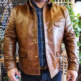 $enCountryForm.capitalKeyWord Australia - Free shipping.Brand Italy oil wax cowhide Riding car coat,Luxury mens 1.5mm genuine leather Jacket,vintage style jacket quality