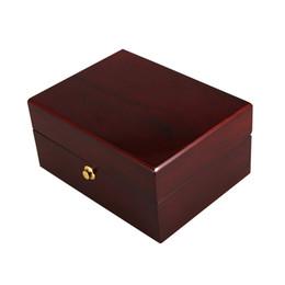 Painting Wood Jewelry Australia - 1PC Bracelet Case Storage Holder Watch Box Jewel Case Paint Portative Upmarket for Display Decoration