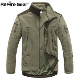 Men s winter gear online shopping - ReFire Gear Winter Warm Style Fleece Jacket Men Thicken Polar Outerwear Coat Army Clothing Many Pockets Tactical Jacket