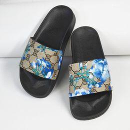 Slide Sandals Australia - Women Sandals Designer Wedding Shoes print Luxury Slide Summer Fashion Wide Flat Sandals Slipper Free Shipping