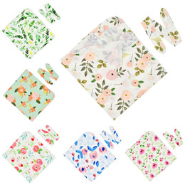 NewborN baby jewelry online shopping - 2Pcs set Baby Kids Wrapped Cloth Ears Hair Band Set Printed Flowers Newborn Quilt Blanket Photography Props Jewelry Gifts