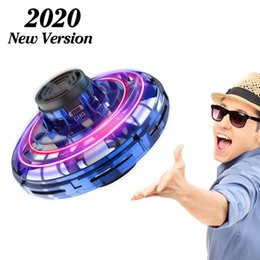 Hot Selling FlyNova UFO Fidget Spinner Toy Kids Portable Flying 360° Rotating Shinning LED Lights Release Xmas Flying Toy Gift Free Shipping on Sale