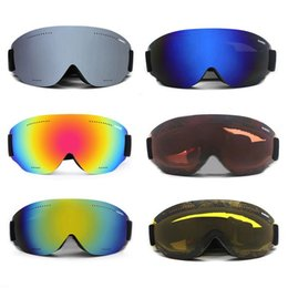 Adult Ski Goggles Australia - For SOARED Frameless Single Layer Adult Ski Goggles for Men and Women Children's Large Spherical Glasses Hiking Outdoor Riding